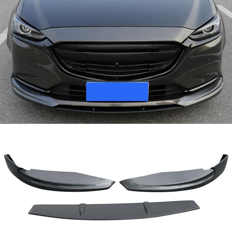 CEYUSOT FOR Mazda 6 Mazda6 Front Spoiler Body Kit 2018 2019 20 Front Bumper Separator Protective Cov