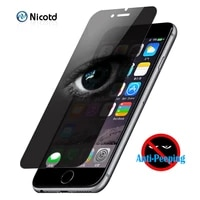 privacy tempered glass for iphone 8 plus screen protector antispy anti shatter shockproof for iphone 11 pro max 12 x 6 6s 7 plus