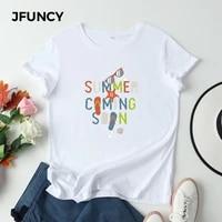 jfuncy oversized cotton t shirt women graphic tee shirts harajuku pineapple summer print woman top casual female clothing