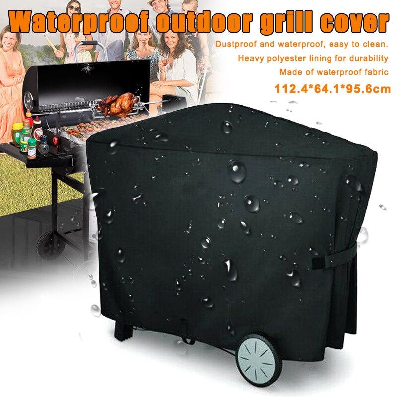 Gran oferta BBQ de longitud completa Grill cubierta impermeable Protector a prueba de polvo Para Weber Q3000 Q2000 TY
