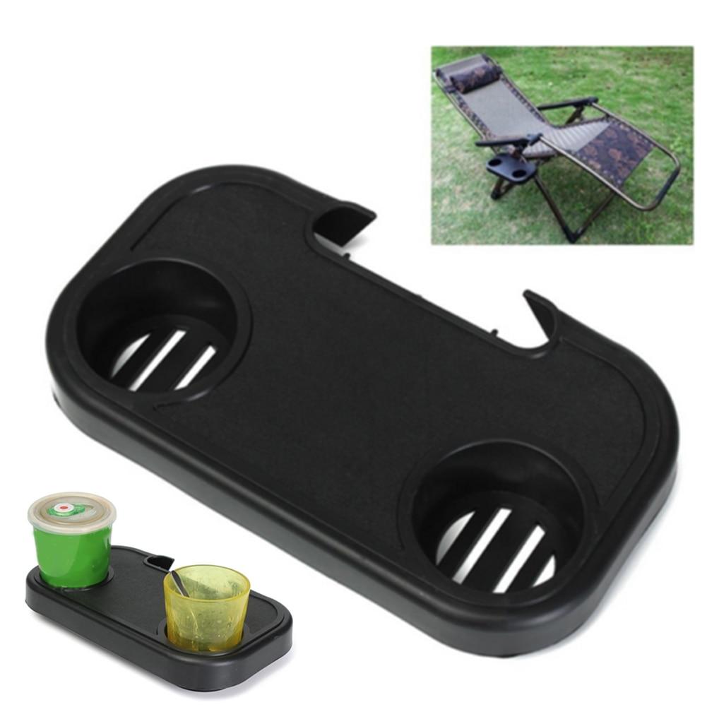 Silla plegable portátil bandeja lateral informal para beber Camping Picnic al aire libre playa jardín HYD88