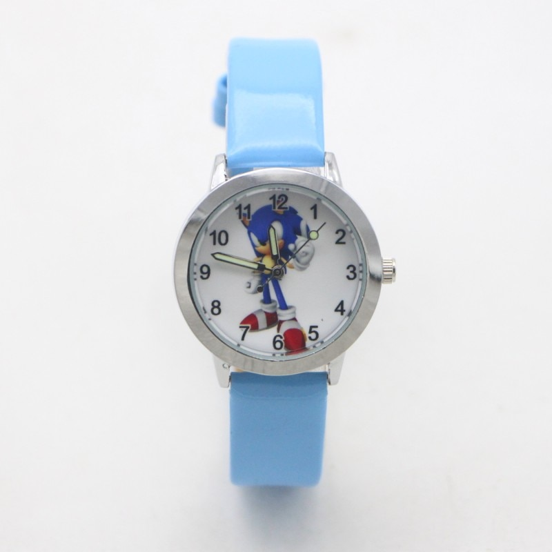 New Arrival Fashion Quartz Kids Cartoon Sonic Lovely Children Student Girls Boys Watches Reloj Mujer