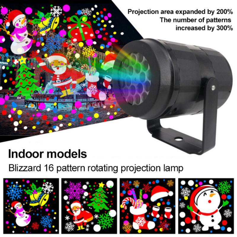 16 узоров, Рождественский лазерный проектор высокой яркости, уличное освещение для рождества, Нового года, сцены, Декор для дома и вечерние скотеки
