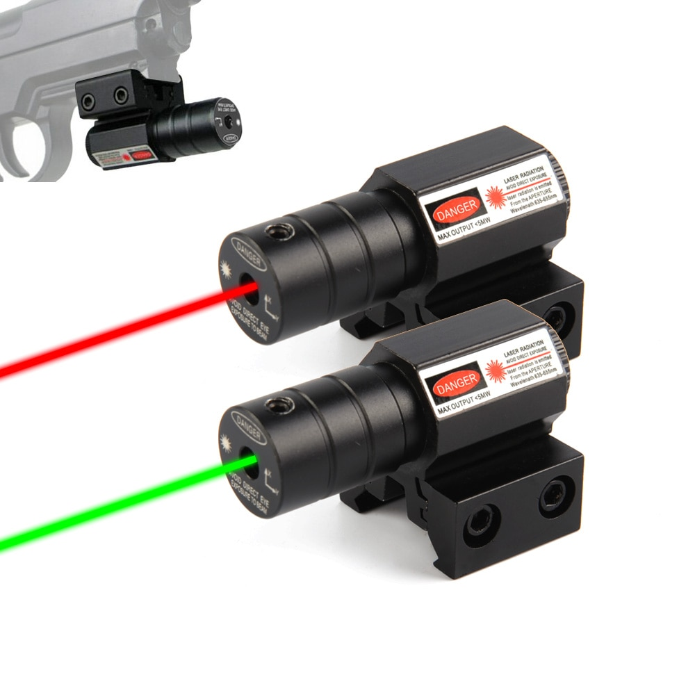 US Red Dot Laser Sight for Picatinny and Rifle with 635-655nm Adjustable 11mm/20mm Picatinny/Weaver
