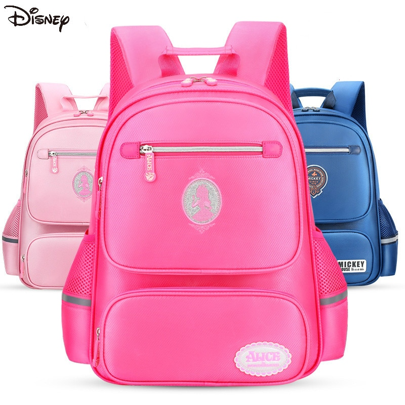 Disney schoolbag elementary school girl children's lightweight ridge protection backpack to reduce the burden on boys