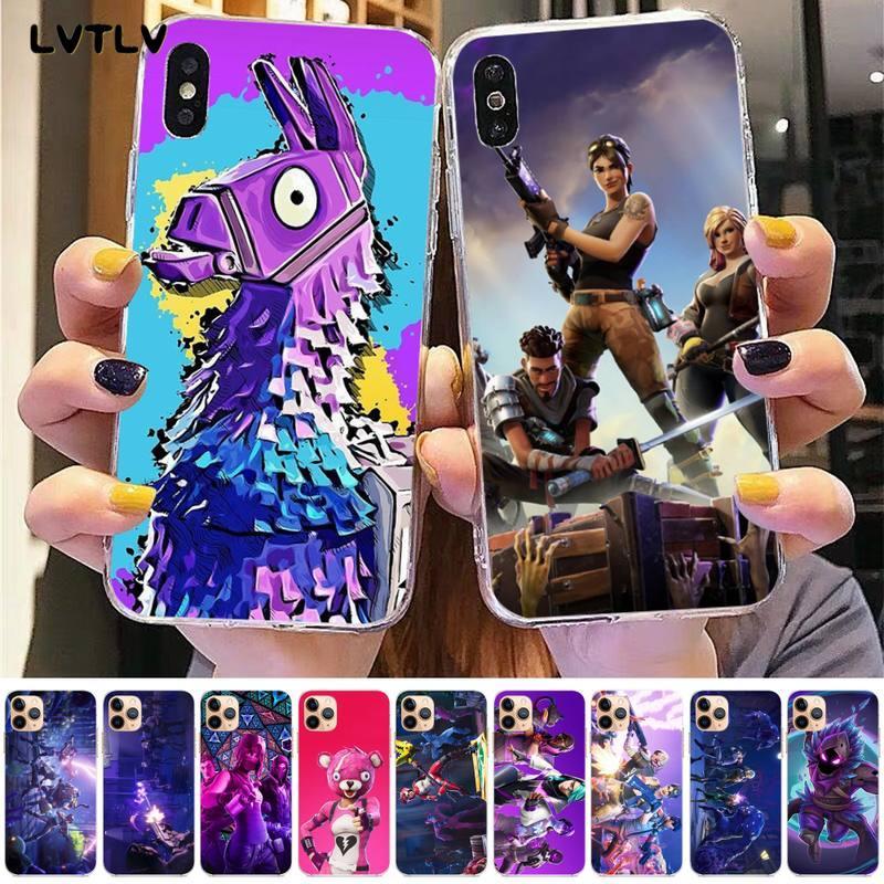 Lvtlv jogo quente batalha royale fogo fn caso de telefone macio para iphone 8 7 6s plus x 5S se 2020 xr 11 pro xs max