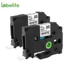 Labelife 2 упаковки 12 мм TZe231 TZe-231 TZe231 черная на белой этикетке лента совместима с принтером этикеток Brother P-touch