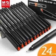 12 / 24 pces m & g MG-2180 assinando caneta 0.5mm linha fina caneta preto vermelho azul fibra caneta chinesa famosa marca