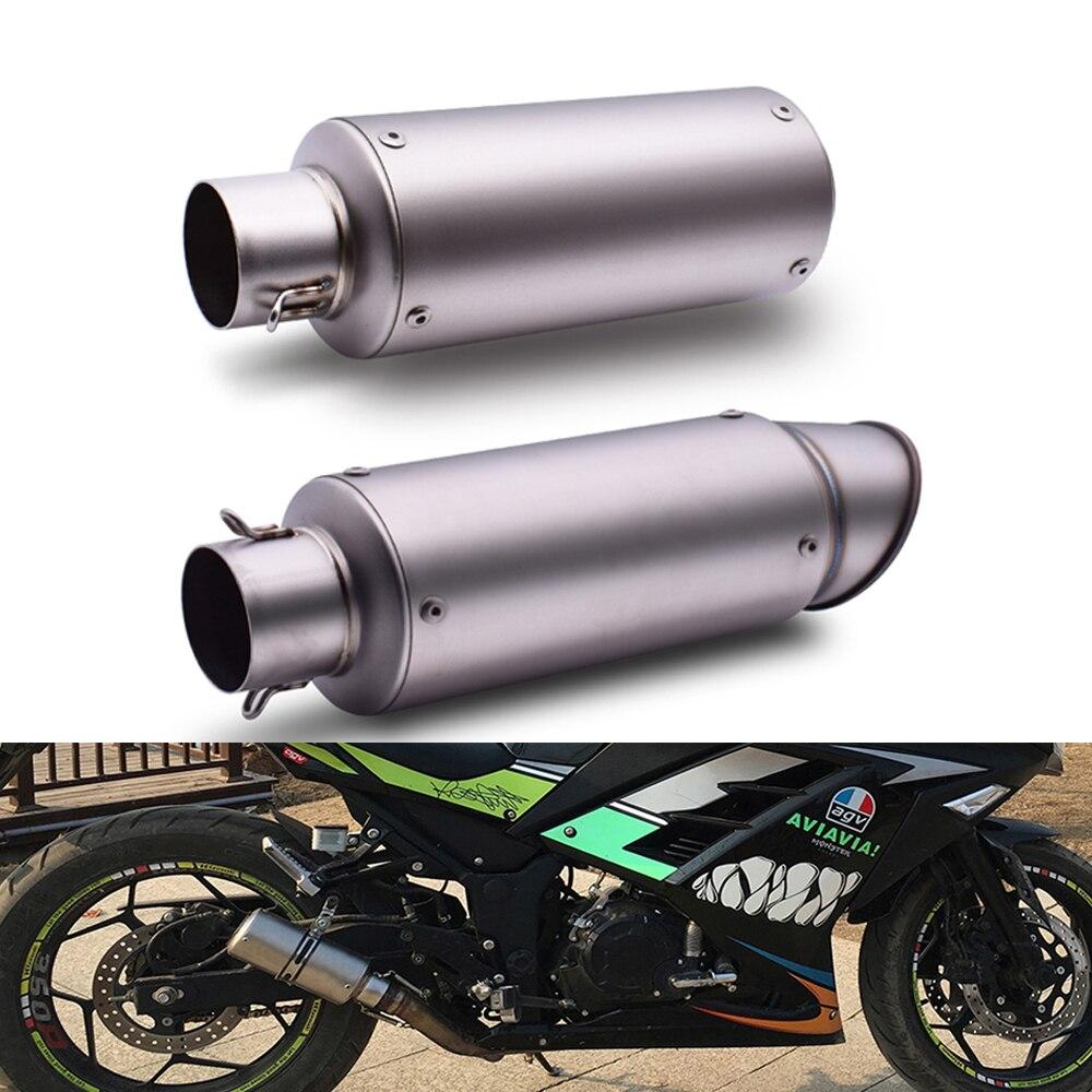 Универсальный мотоцикл глушитель выхлопной трубы с дБ убийца 51 мм для Yamaha MT03 MT25 mt 125 01 03 25 TMAX 500 530 XP530