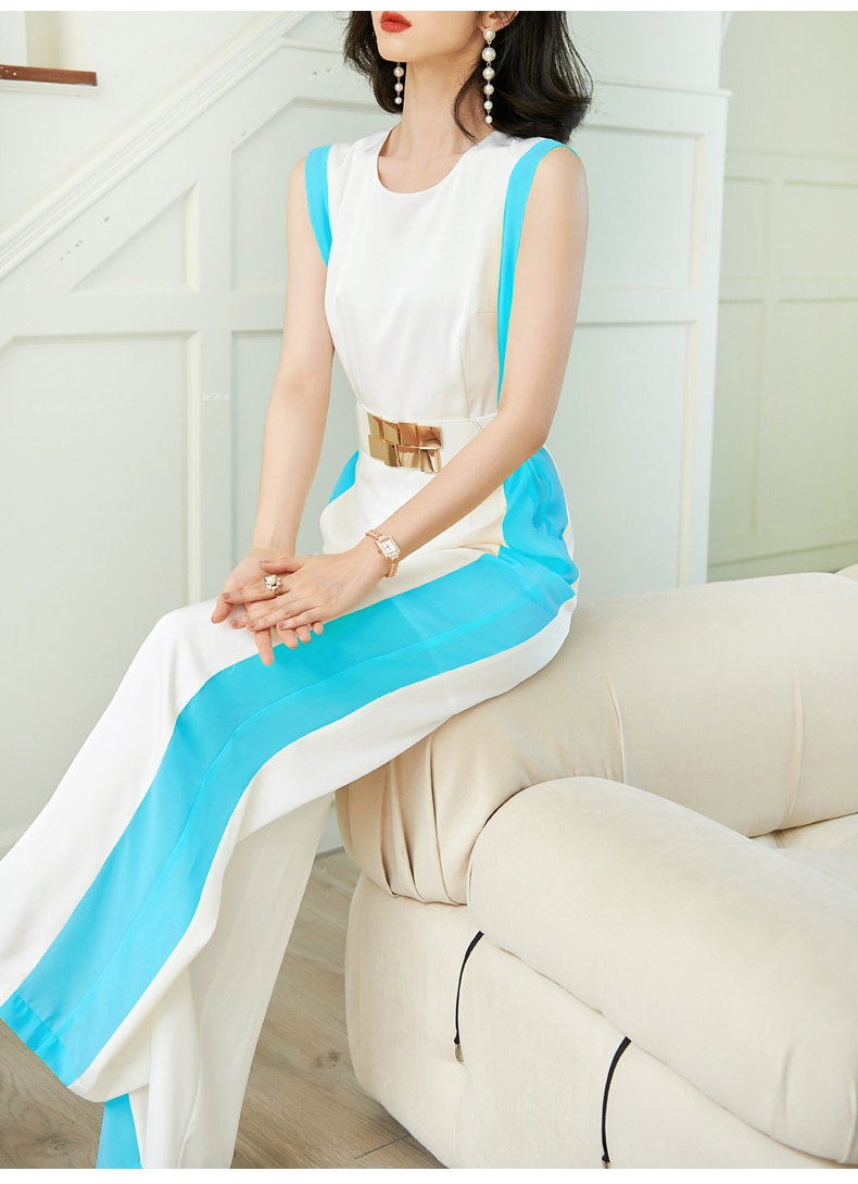 new summer office lady Fashion casual loose plus size brand female women girls sleeveless jumpsuits clothing