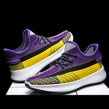 New sneakers flying weaving women comfortable casual running shoes breathable sports men's shoes