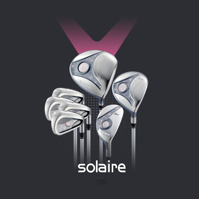 full set of golf clubs, suitable for women's Solaire entry-level beginner golf set free shipping