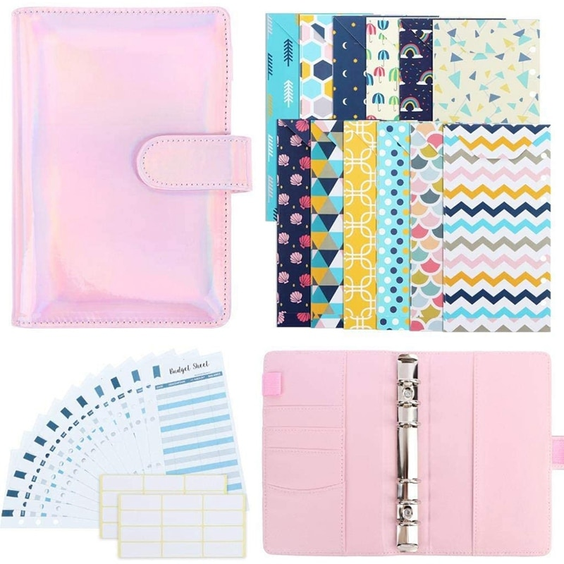 28 Pieces PU Leather Budget Planner System Organizer Binder Cash Envelope for Budgeting Envelopes for Storage Cash