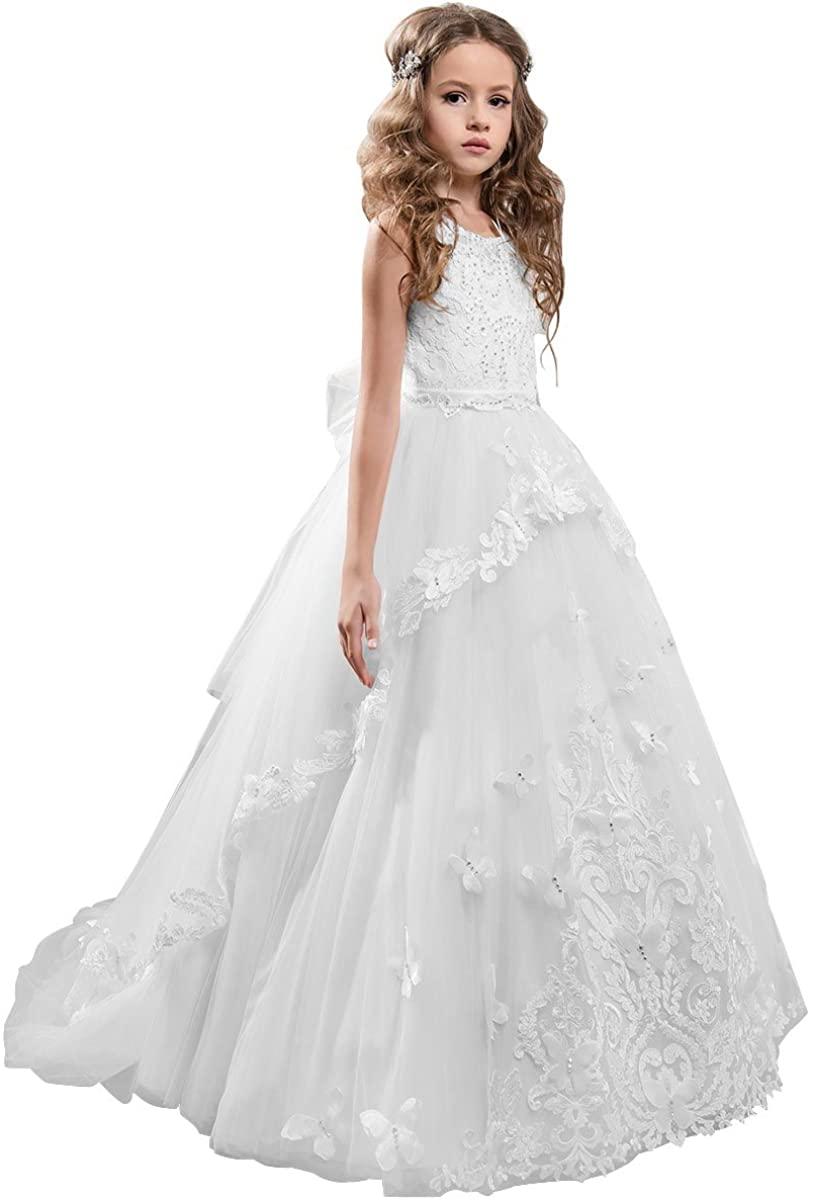 Платье для девочек с цветами, платья для девочек на свадьбу, белые платья для девочек с цветами, платье для девочек с цветами, платья для дево...