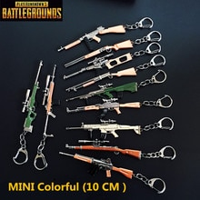 Jeu PUBG porte-clés arme modèle 98K AWM SCARL porte-clés porte-clés pendentif pour Fans Memento cadeaux PUBG accessoires jouet taille 10CM