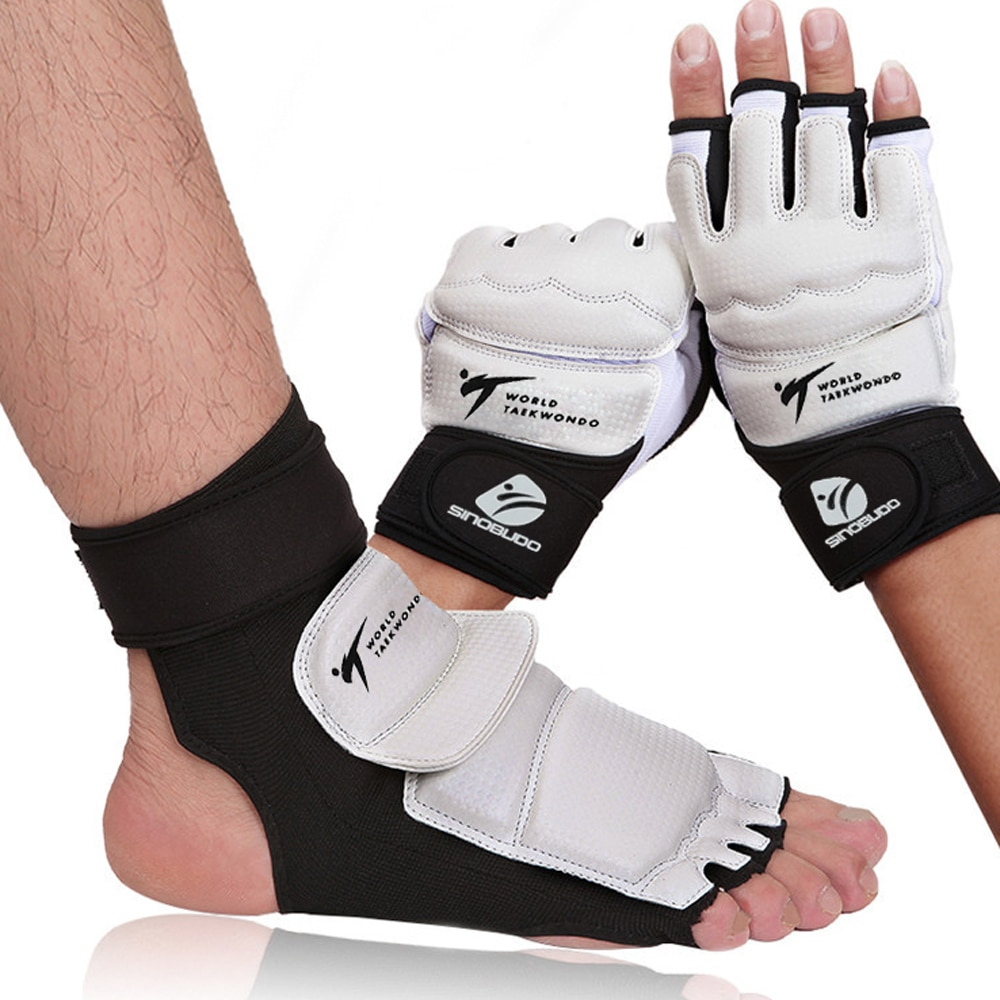 Adult child protect gloves Taekwondo Foot Protector Ankle Support fighting foot guard Kickboxing boo