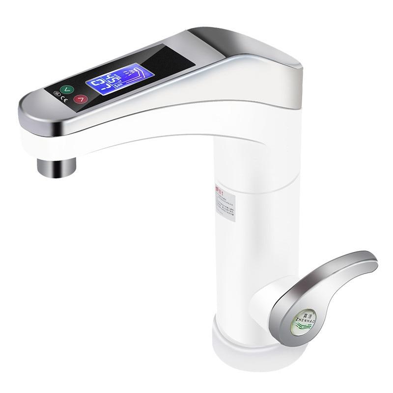 سخان مياه كهربائي مع شاشة لمس كبيرة ، صنبور دوار فوري ، ماء ساخن وبارد لمطبخ الحمام ، 500-3500 واط
