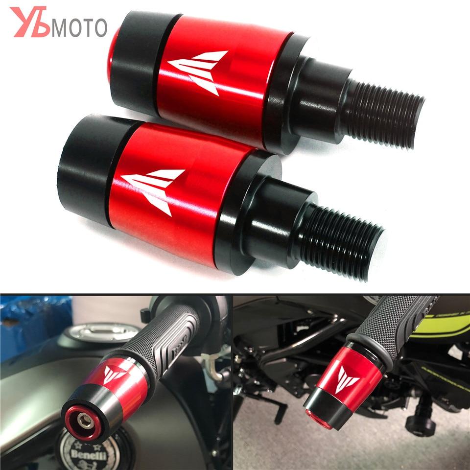 جديد الدراجات النارية المقود Grips التوصيل المنزلق مقبض بار ينتهي صالح لياماها MT-07 MT07 MT09 MT10 MT 07 09 10 التتبع 900 GT