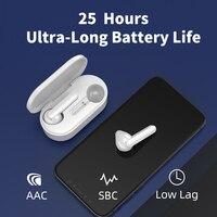 QCY T3 TWS отпечатков пальцев сенсорные беспроводные наушники Bluetooth V5.0 3D стерео наушники с двойным микрофоном