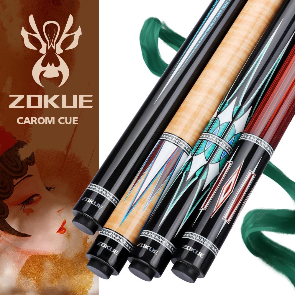 ZOKUE-عصا البلياردو الاحترافية Carom ، عصا البلياردو الكورية مع 3 وسادات ، 12 مللي متر ، طرف 142 سنتيمتر مع حقيبة