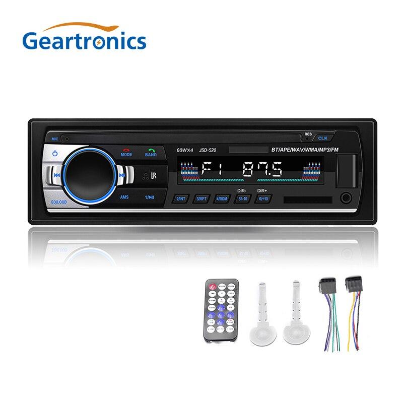 1Din Bluetooth Autoradio Car Stereo Radio FM Aux Input Receiver SD USB JSD-520 MP3 12V In-dash 1 din Auto Car Multimedia Player