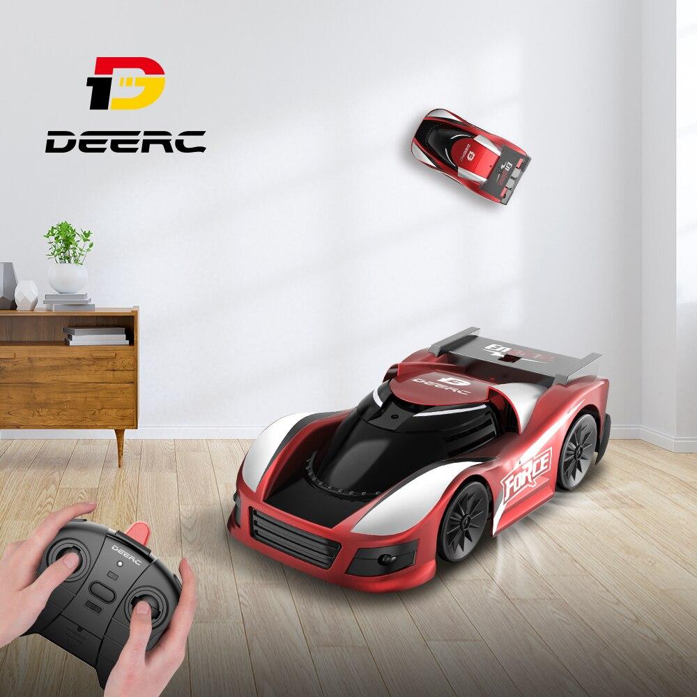 Deerc 110 Mini RC coche juguetes para niños pared escalada Drift Car Multi-canales 360 ° truco Control remoto Drift Toy para niños