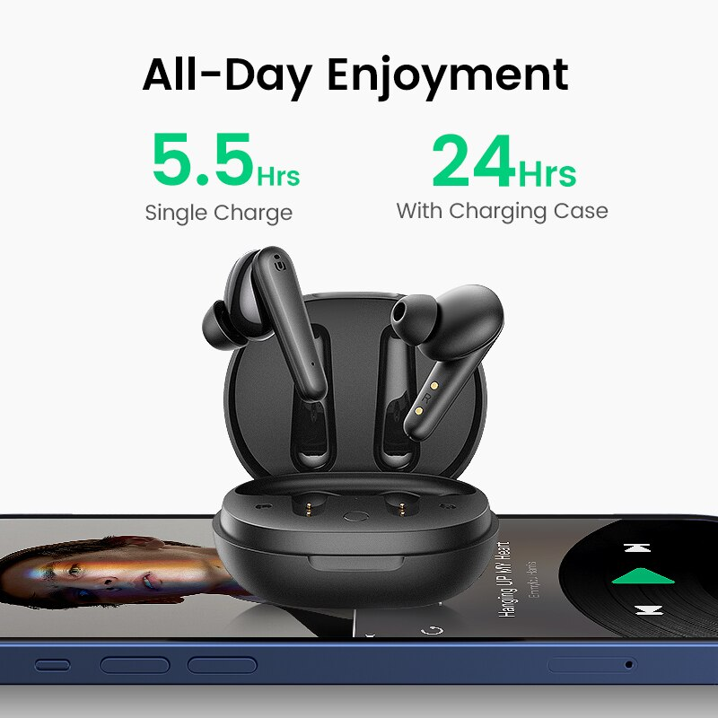 2021 New Style Wireless Earbuds with 4 Mics TWS Bluetooth 5.0 Earphones True Wireless Stereo 24H Playing USB C Charge Earphoe enlarge