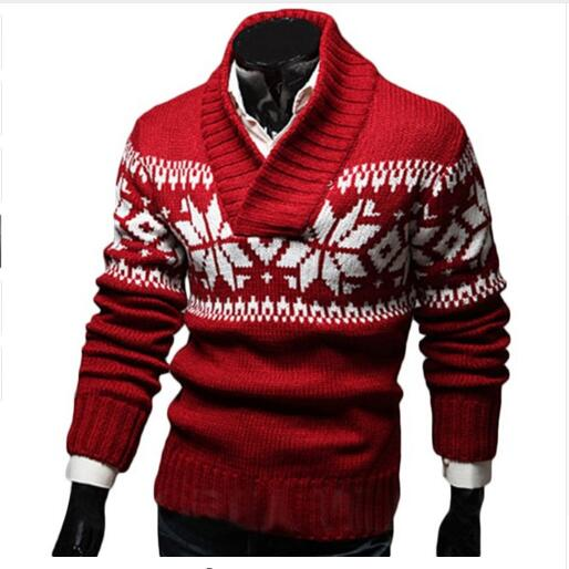 Рождественский свитер, Мужская Осенняя Джерси, жаккардовый мужской свитер, облегающие вязаные мужские свитера, мужские пуловеры