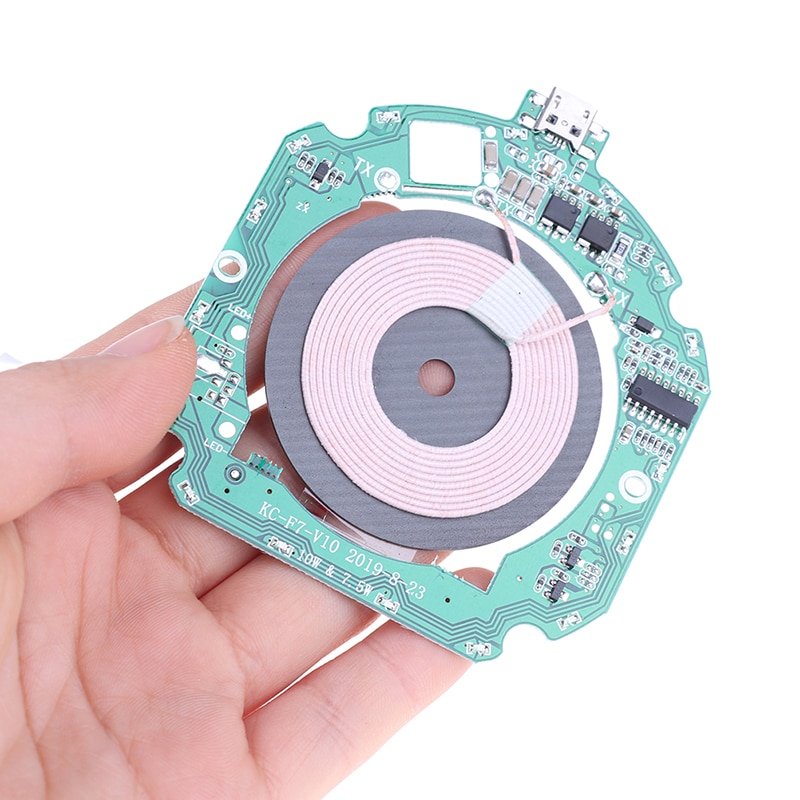 10W QI Fast Wireless Charger PCBA Module Transmitter Circuit Board+ Wireless Charging Diy Circuit Board недорого