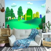 candy candyland tapestry cartoon magic castle art wall hanging tapestries for living room home dorm decor banner