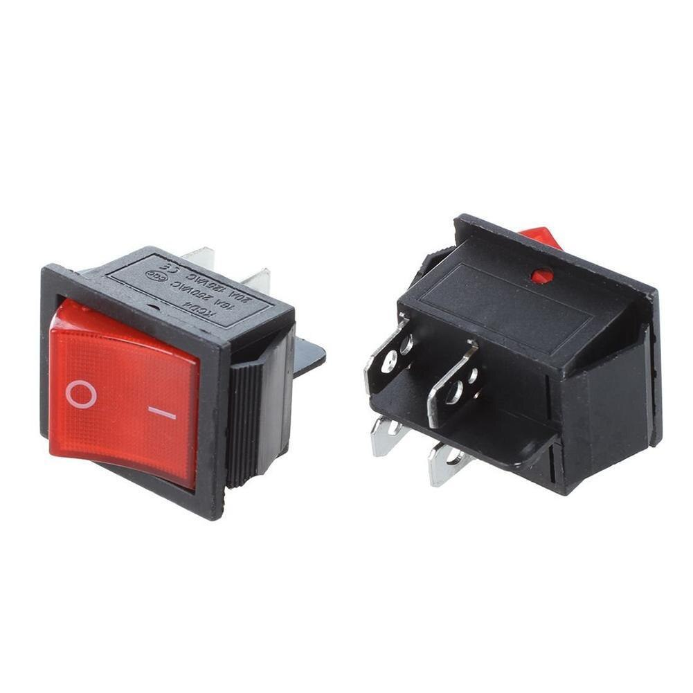 15a 250v on off momentary toggle switch rocker switch 2 pin 2 position toggle switch 12mm for home appliance industrial control 2 Pcs Red Light Rocker Switch 15a/250v Ac 2 Pin On/off Toggle Power Electrical Equipment with 3.1×2.5cm Switches Supply Lig C1I3