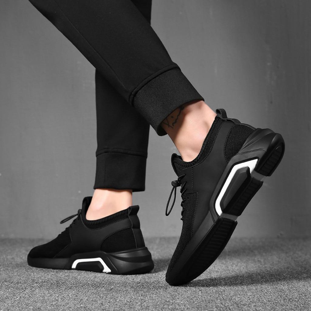 2020 спортивная обувь для мужчин Удобная дышащая спортивная обувь, Мужская Черная спортивная обувь