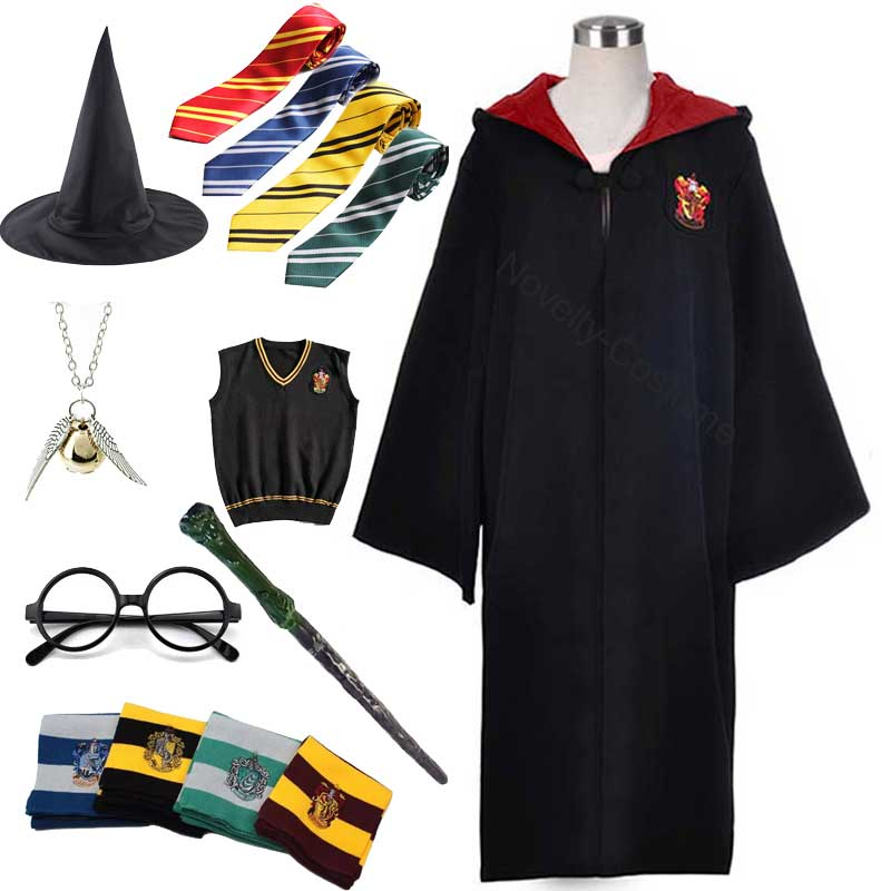 Hermione robe traje unisex slytherin ravenclaw hufflepuff festa cosplay escola uniforme feiticeiro roupas presente de natal
