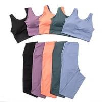 gym clothing fitness women tracksuit 2 piece yoga set gym sport suit women high waist sport set fitness workout women sportwear