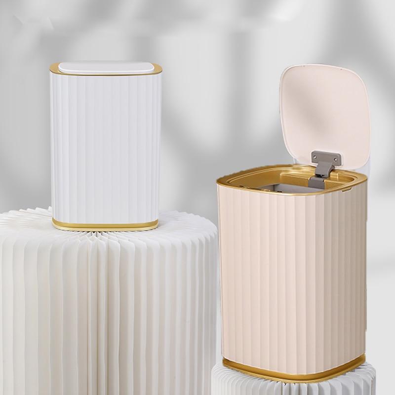 Умная мусорная корзина XiaoGui с датчиком, светильник щение, роскошная гостиная, туалет, творчество, автоматическое открытие и закрытие мусора ...