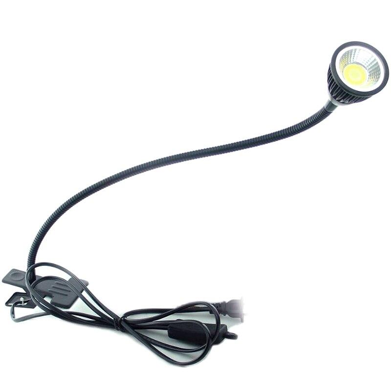 Gran oferta LED lámpara de escritorio con Clip lámpara Flexible LED Lámpara de lectura para mesilla con nosotros enchufe