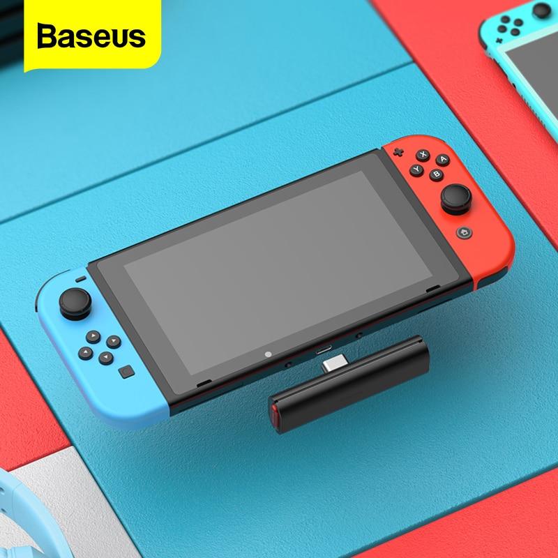Baseus الصوت بلوتوث محول ل نينتندو التبديل 18 واط سريع تهمة نوع C USB اللاسلكية الارسال بلوتوث استقبال محول