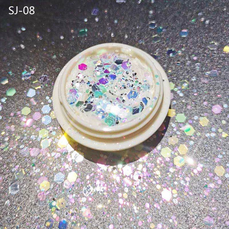 1 Box Nail Mermaid Glitter Flakes Sparkly 3D Hexagon Colorful Sequins Spangles Polish Manicure Nails Art Decorations недорого