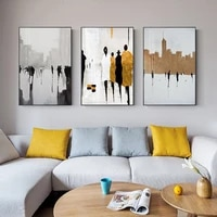 abstract bronze canvas painting and nordic poster print british street wall art pictures for living room classic painting decor