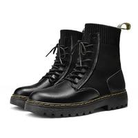 chelsea boots women boots women winter shoes pu leather plush ankle boots black female 2021 autumn fashion botas de mujer