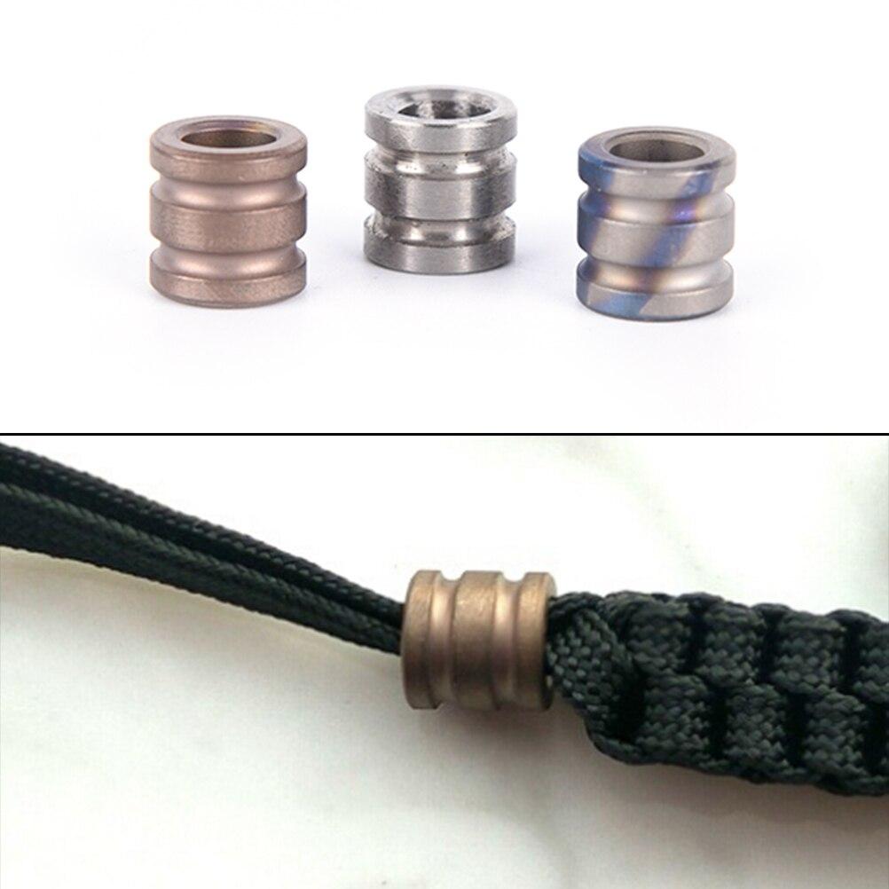 Sale Titanium Alloy Can Fits Tritium Gas Tube Knife Lanyard Rope Parachute Cord Gadget EDC Multi Too