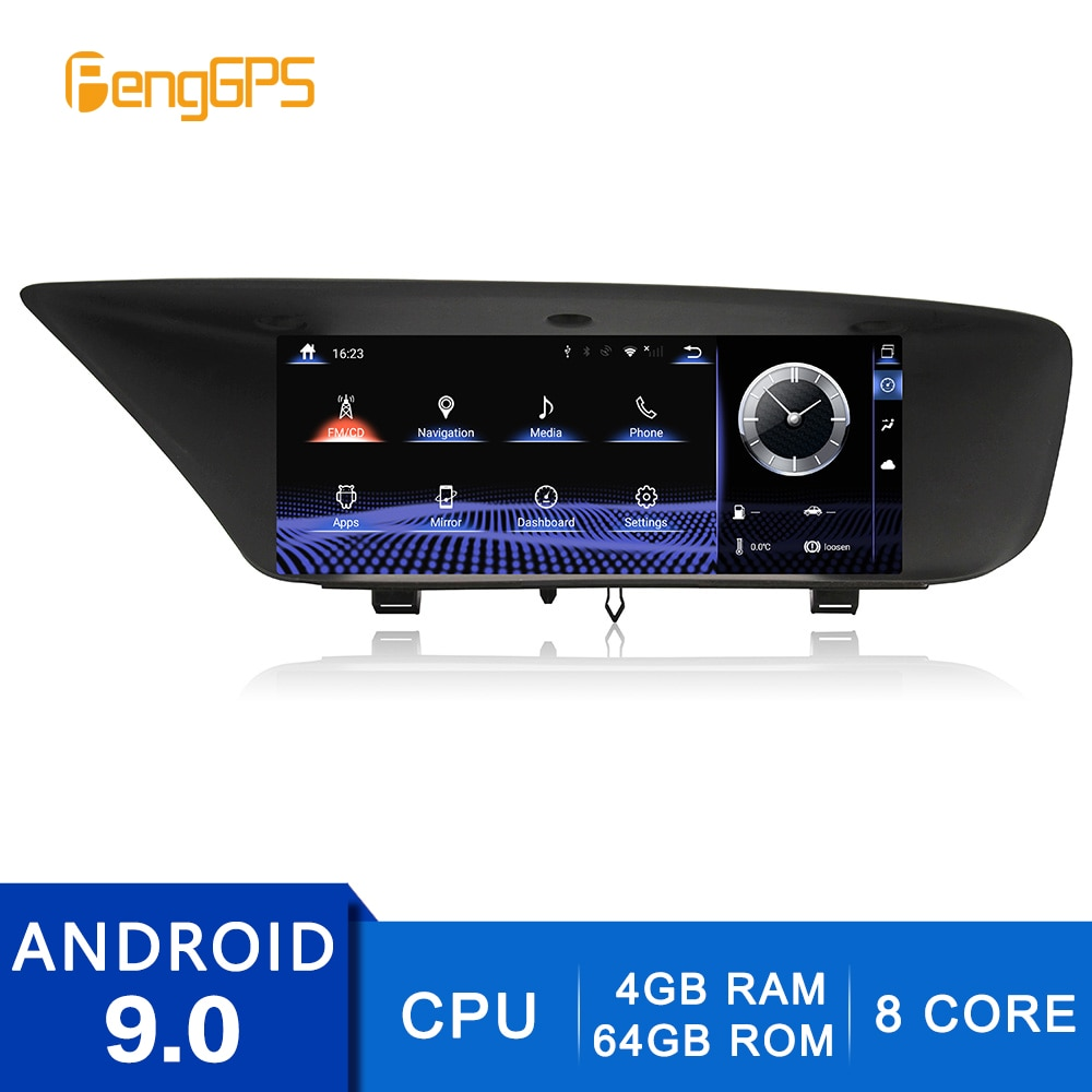 2Din estéreo Android 9,0 para Lexus GS 2012-2016 REPRODUCTOR DE DVD navegador GPS Radio 8Core Multimedia 4G + 64G AM/FM/WIFI USB Unidad Principal