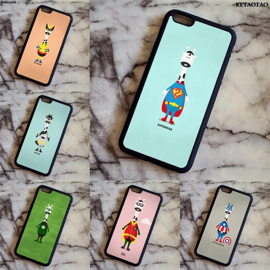 KETAOTAO hoy estoy super héroe teléfono casos para iPhone 4S 5C 5S 6S 6 7 8 Plus XR XS Max caso suave de goma TPU de silicona
