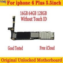 Pour iPhone 6 Plus 5.5 pouces carte mère dorigine usine débloqué carte mère sans ID tactile IOS plaque de fonction complète