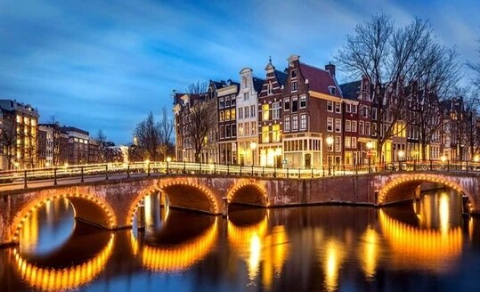 Pintura de diamante Avond en Amsterdam