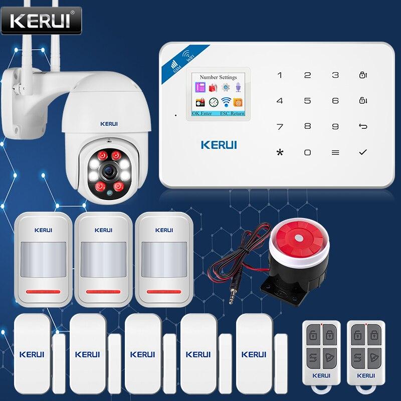 KERUI W18 Home Security Smart Alarm System WIFI Wireless GSM APP Remote Control Outdoor Waterproof Camera Door Sensor Infrared