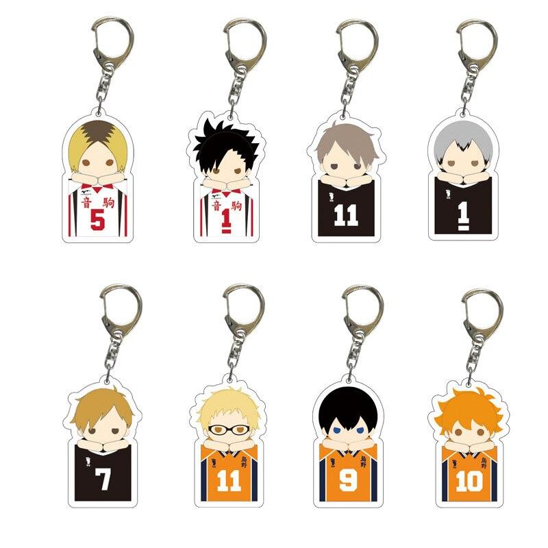 Аниме Haikyuu! Акриловый брелок с героями мультфильмов Haikyuu Manga Hinata Syouyou косплей реквизит кольцо для ключей