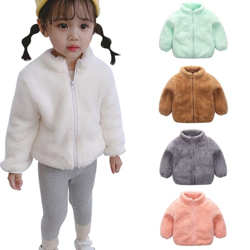 Chaquetas de lana para niños de invierno al aire libre para niños, ropa con capucha, abrigo cálido, cortavientos, abrigos para bebés y niños