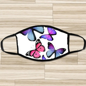 Fashion butterfly Printed Funny Outdoor Breathable Mondmasker Bandana Mascara Mondkapjes Wasbaar Scarf Halloween Cosplay Mask