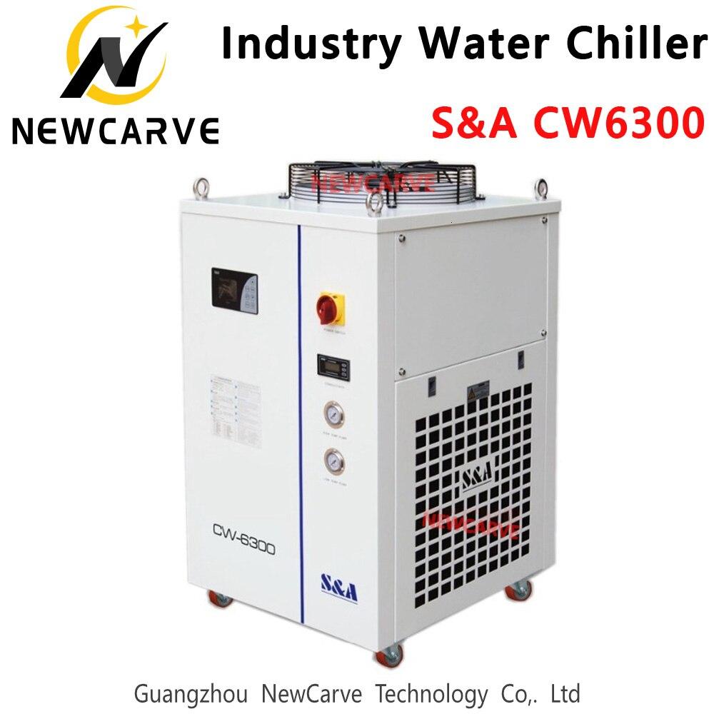 Enfriador de agua Industrial S & A CW6300 8500W Capacidad para máquina láser CO2 enfriamiento tubo láser CO2 NEWCARVE